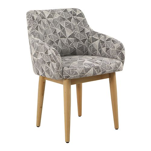 HomePop Milo Accent Chair - Gray Lines