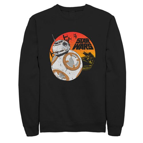 Men's Star Wars BB-8 Vintage Style Logo Fleece