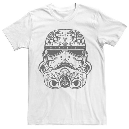 Men's Star Wars Stormtrooper Sugar Skull Helmet Tee