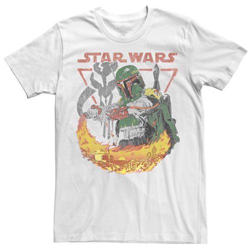 Men's Star Wars Boba Fett Flame Poster Tee