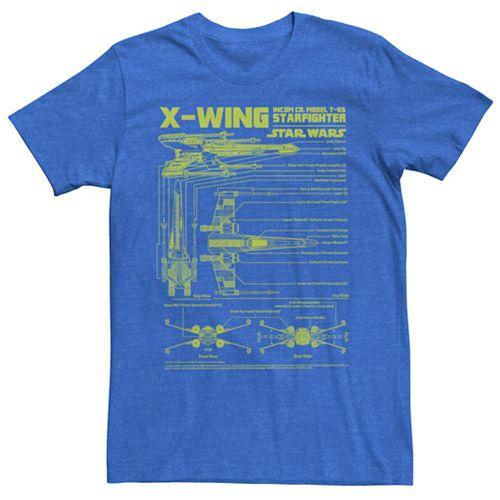 Men's Star Wars X-Wing Blueprint Tee