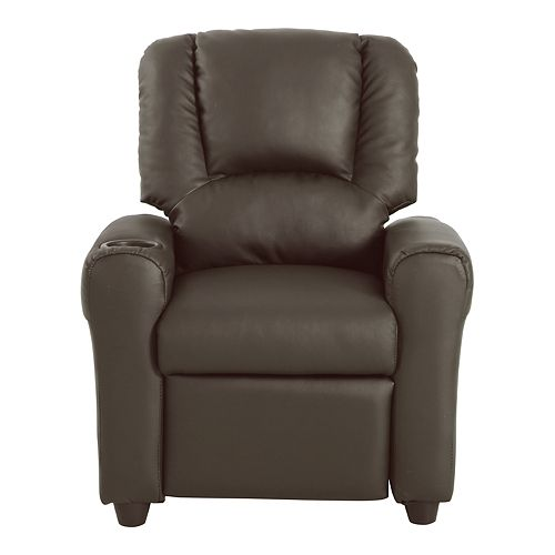 HomePop Kids Faux Leather Recliner