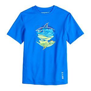 Boy's 8-20 Zero Xposur Shark Graphic Swim Top