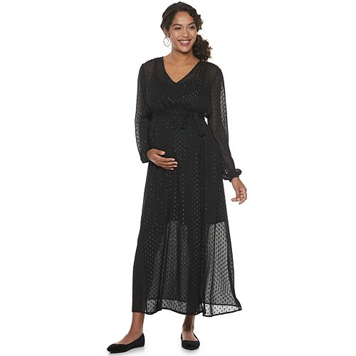 Maternity a:glow™ Lurex Polka Dot Maxi Dress