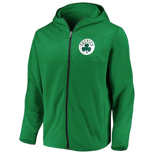 Men's Boston Celtics Defender Mission Zip-Up Hoodie