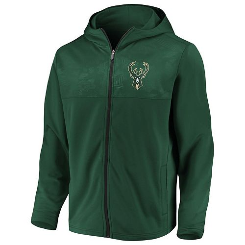 Men's Milwaukee Bucks Defender Mission Zip-Up Hoodie
