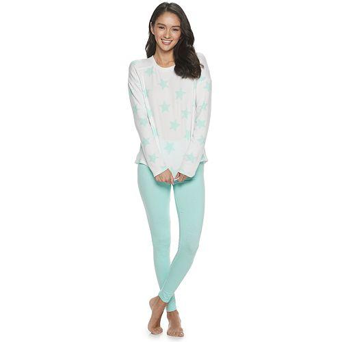 Juniors' SO® Long Sleeve Top & Legging Pajama Set