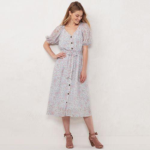 Women's LC Lauren Conrad Button Front Shirtdress