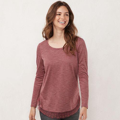 Women's LC Lauren Conrad Long Sleeve Shirttail Tunic
