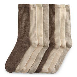 Men's Croft & Barrow 8-pack Marled Cushioned Crew Socks