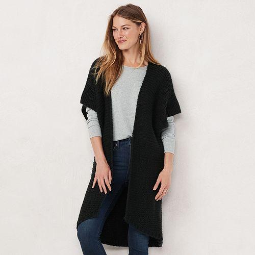Women's LC Lauren Conrad Rib Knit Duster