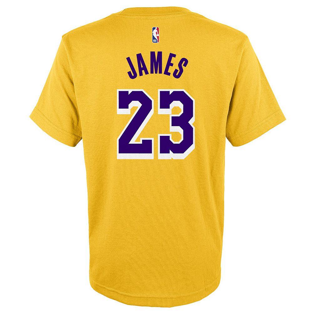 Boys 4-20 Los Angeles Lakers LeBron James Player Tee