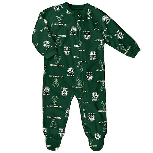 Baby Milwaukee Bucks Footed Bodysuit