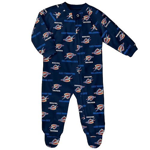 Baby Oklahoma City Thunder Footed Bodysuit