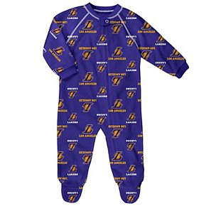 Baby Los Angeles Lakers Footed Bodysuit