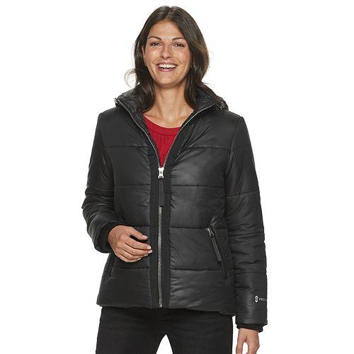 Women's Free Country Metallic Hooded Puffer Jacket