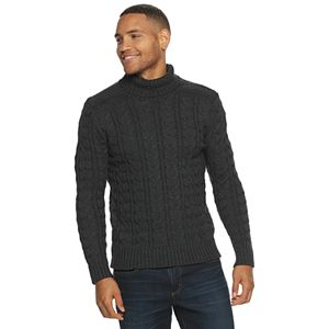 Men's Xray Turtleneck Cable Knit Sweater