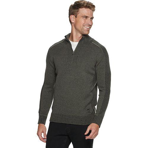 Men's Xray 1/4 Zip Mixed Yarns Sweaters