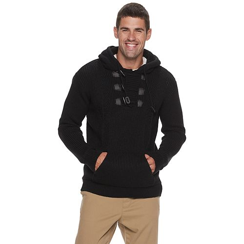 Men's Xray Pull Over Hood Sweater With Toggles