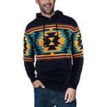 Men's Xray Aztec Pull Over Hood Sweater