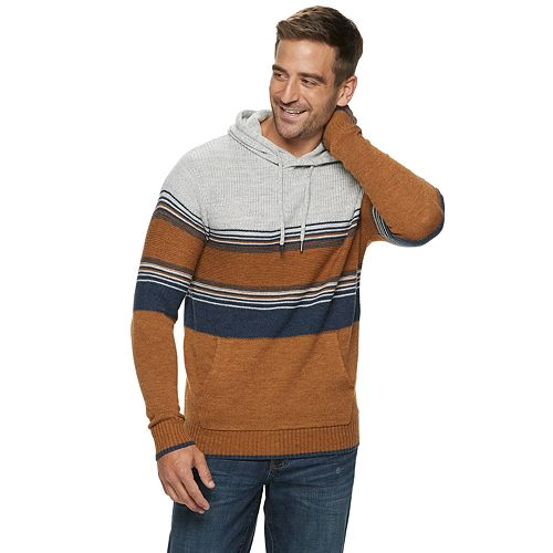 Men's Xray Multi Strip Pull Over Hood Sweater