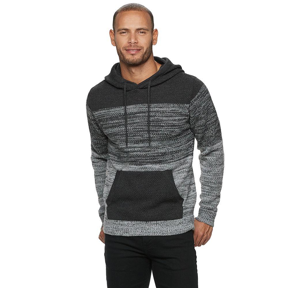 Men's Xray Colorblock Pull Over Hood Sweater