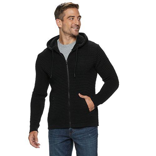Men's Xray Zip Moto Sweater With Hood