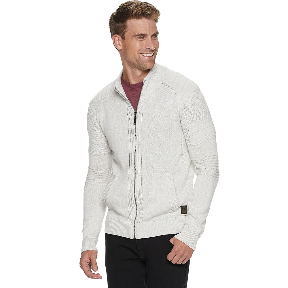 Men's Xray Zip Up Sweater With Stand up Collar