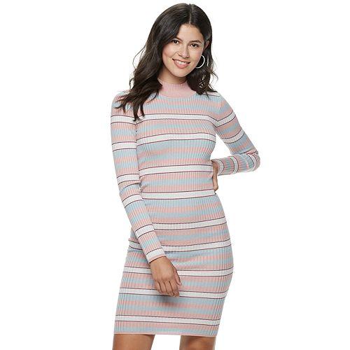 Juniors' Candie's® Mock Neck Long Sleeve Dress