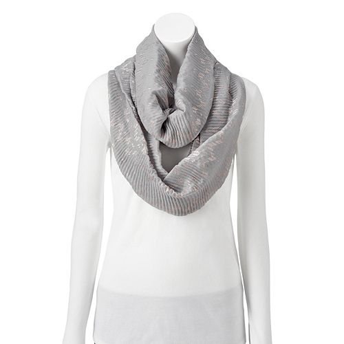 Women's Style Collective Chevron Foil Pleat Loop Scarf