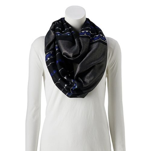 Women's Style Collective Arrow Shine Loop Scarf