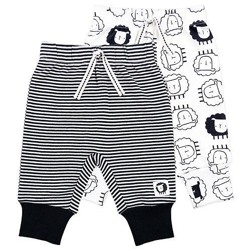 Baby Mac & Moon 2-Pack Sheep Print and Stripes Pants