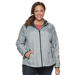 Plus Size Free Country Hooded Water-Resistant Jacket