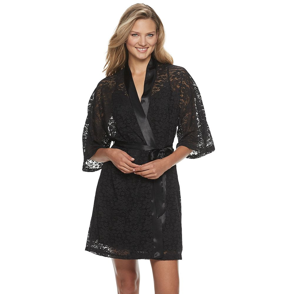Women's Apt. 9® Solid Lace Robe