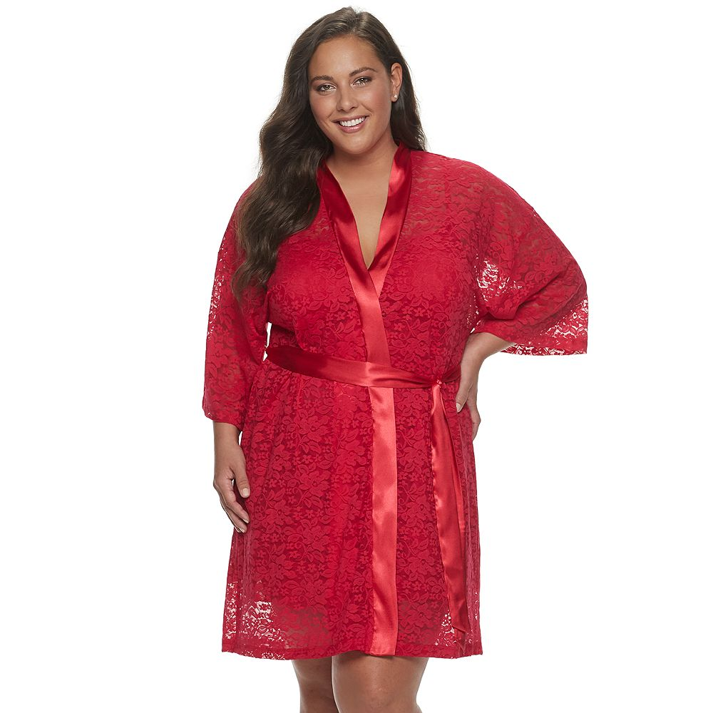 Plus Size Apt. 9® Solid Lace Robe