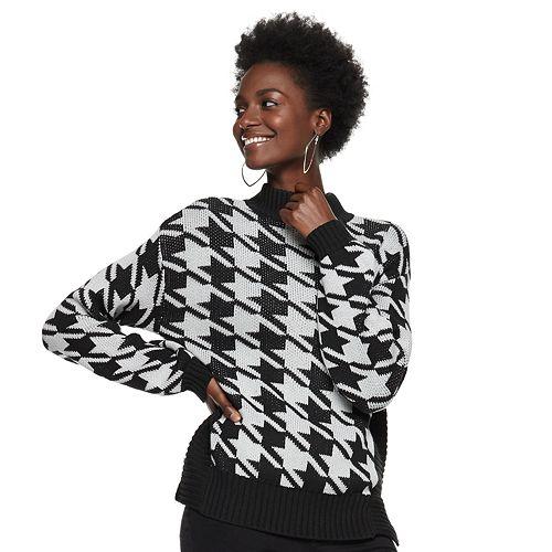 Women's Nine West Houndstooth Sweater