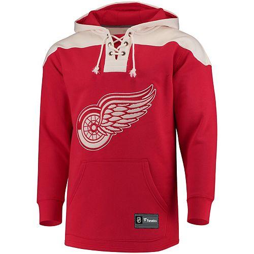 Men's Detroit Red Wings Lace Up Hoodie