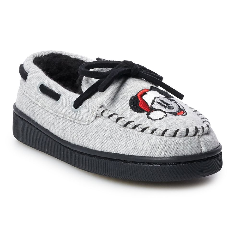 Disney's Mickey Mouse Toddler Boys' Moccasin Slippers