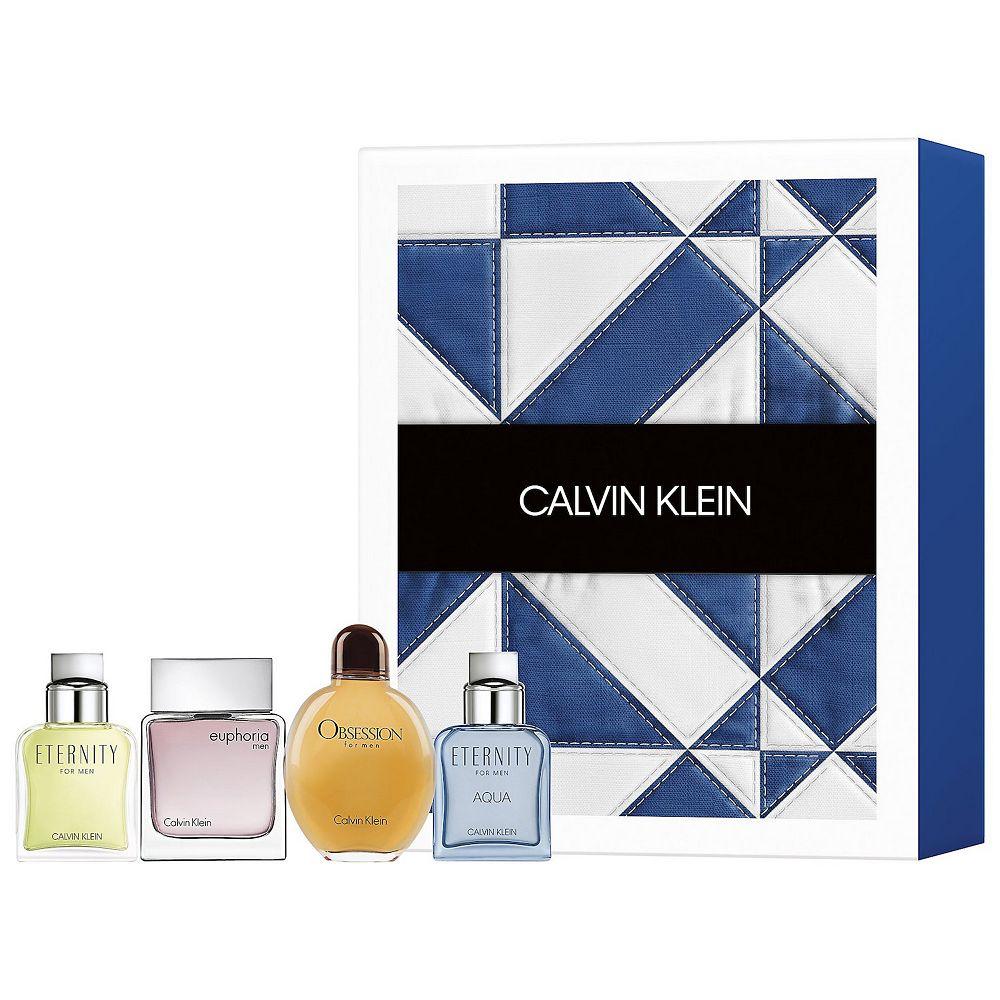 Calvin Klein Men's 4-Piece Mini Cologne Gift Set - Eau de Toilette ($84 Value)