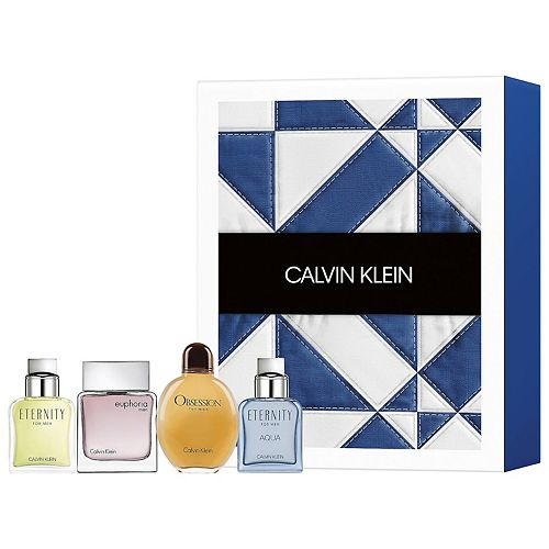 Calvin Klein Men's 4-Piece Mini Cologne Gift Set - Eau de Toilette ($84 Value)