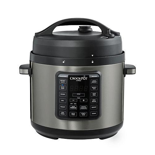 Crock-Pot Express 6-qt. Black Stainless Pressure Cooker