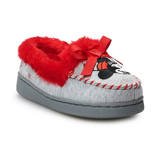 Disney's Minnie Mouse Toddler Girls' Moccasin Slippers