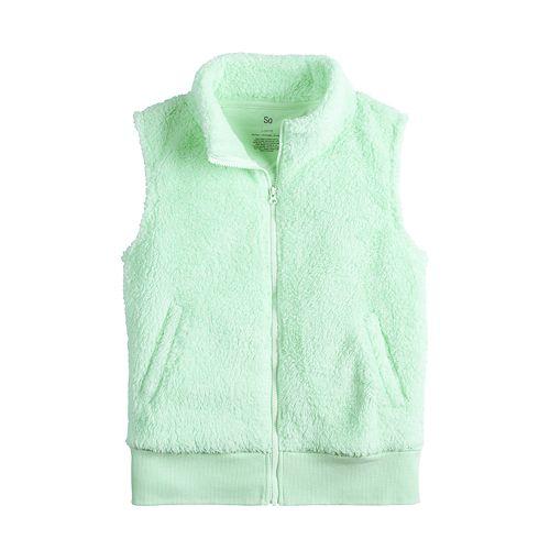 Girl's 7-16 SO® Sherpa Vest