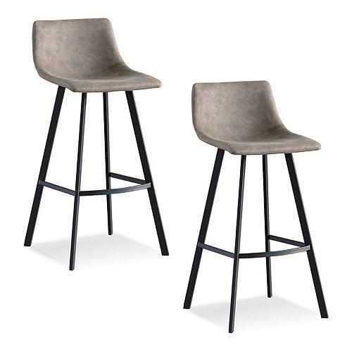 Leick Furniture Matte Black & Gray Bar Stool Set