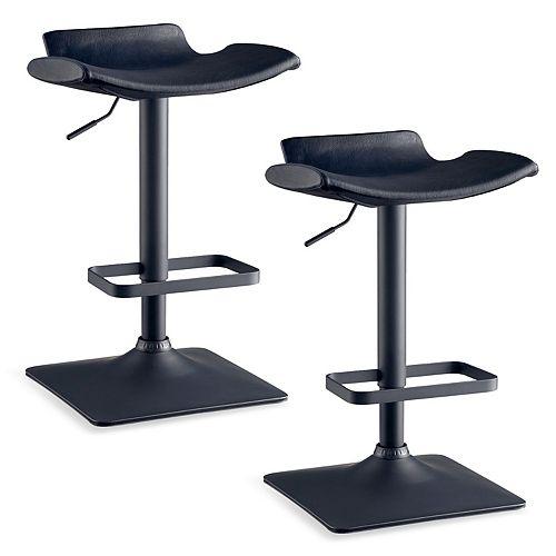 Leick Furniture Black Adjustable Swivel Stool Set