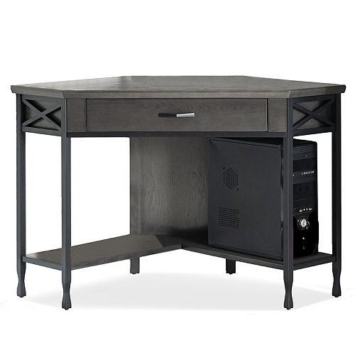 Leick Furniture Chisel & Forge Corner Computer Desk