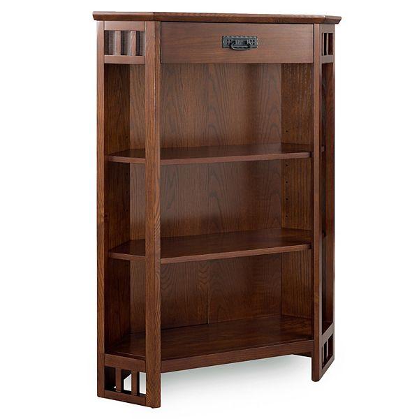 Leick Furniture Mission Oak Corner, Corner Bookcase Furniture