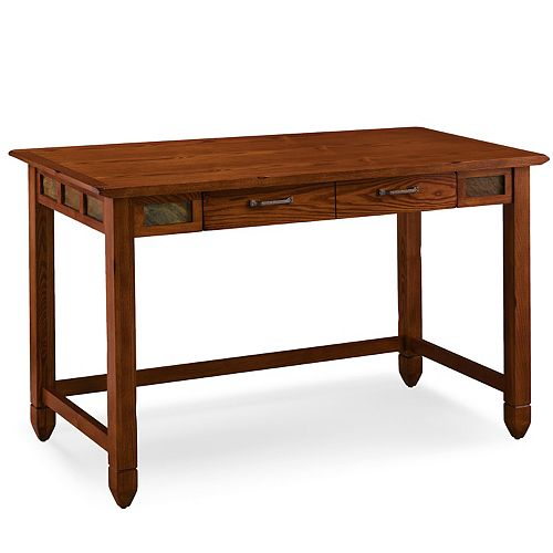 Leick Furniture Rustic Oak and Slate Laptop Desk