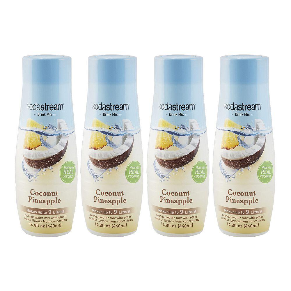 SodaStream Coconut Pineapple 14.8-oz. Sparkling Drink Mix - 4-pk