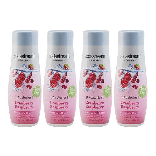 SodaStream Zero Cranberry Raspberry 14.8-oz. Sparkling Drink Mix - 4-pk